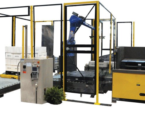 Automated Robotic Carton Palletizer Cell