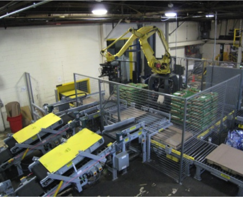 Fanuc Robotic Bag Palletizer - cement bag palletizer