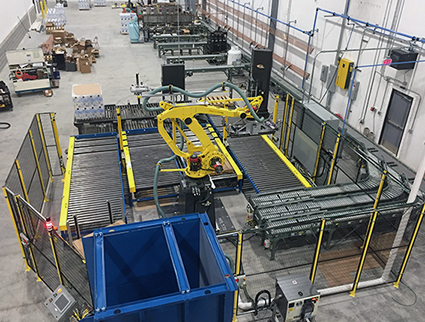 Alba Aloi Robotic Palletizer and Conveyor Integration