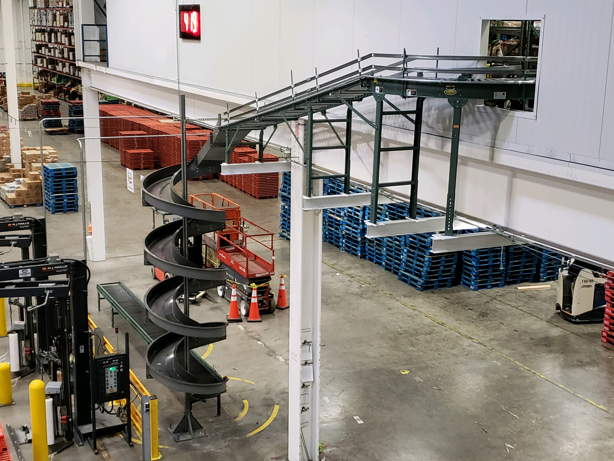 Hytrol line roller and gravity conveyor installation by Aloi