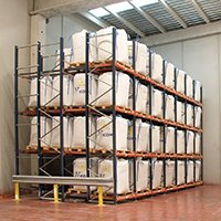 Aloi Materials Handling & Automation Warehouse Solutions - Push Back Pallet Rack