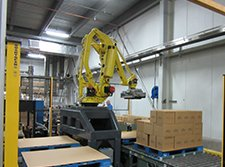Robotic palletizing system integration by Aloi Materials Handling and Automation