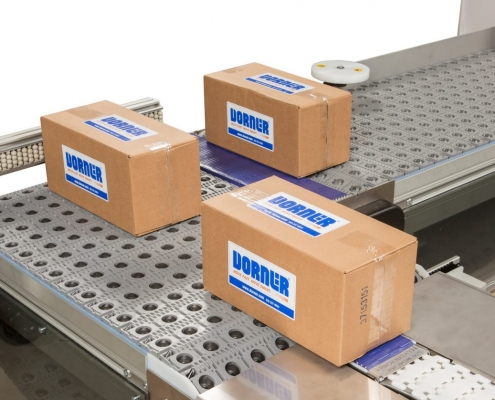 Dorner Activated Roller Belt Conveyor - Carton conveyor - 3200 Series - Aloi Materials Handling & Automation
