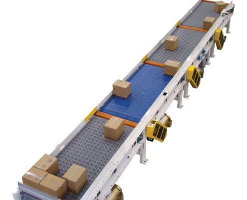 Omni Activated Roller Belt Conveyor - Aligning - Aloi Materials Handling and Automation