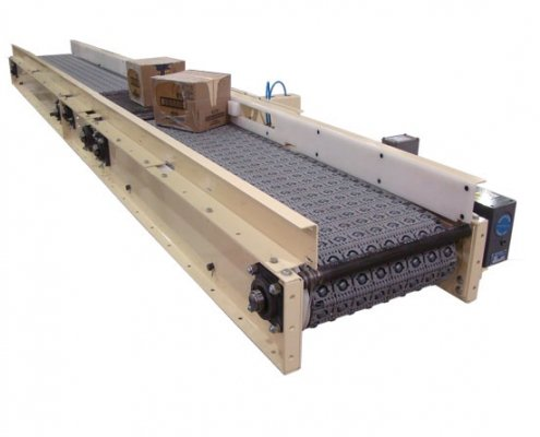 Omni Activated Roller Belt Conveyor - Package Handling - Aloi Materials Handling and Automation
