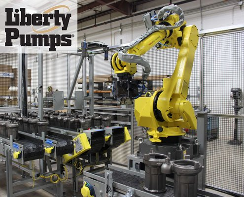 Liberty Pumps FANUC M-710iC/50 robot increases production by 35%