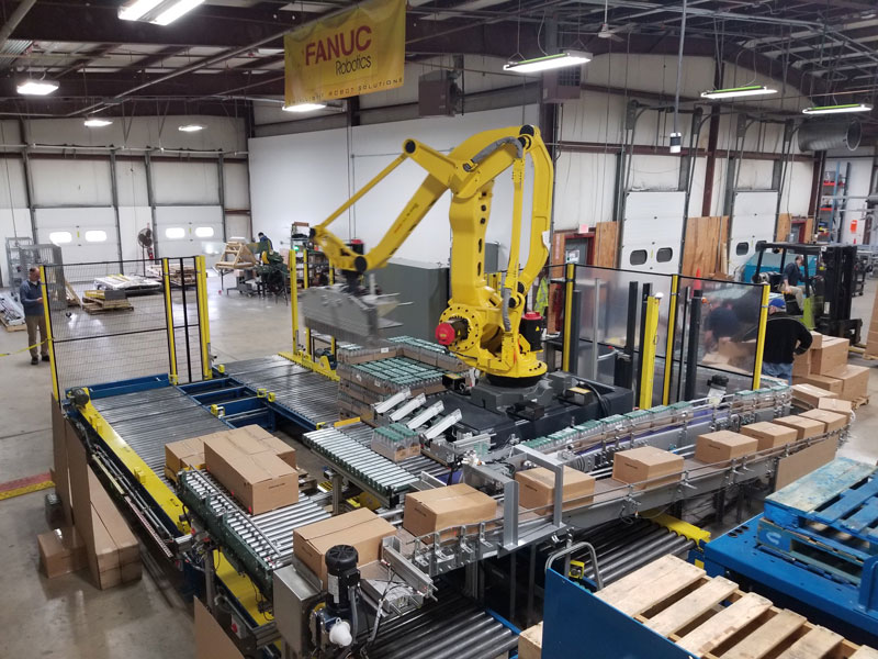 Fanuc robotic carton palletizer
