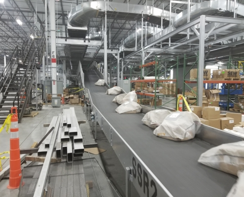 Custom conveyor system for Global Parcel Shipping Company