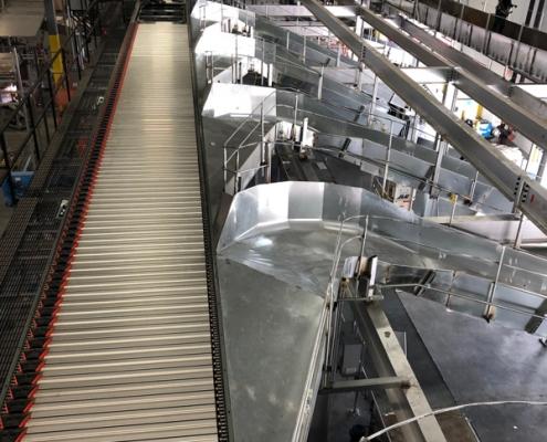 Intelligrated Shoe Sorter Conveyor and Chutes