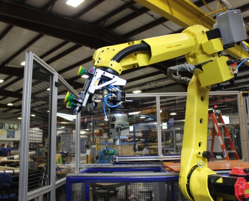 FANUC M-20iA robot with FANUC iRVision and line tracking
